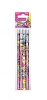 Ołówek z gumką 4szt. Barbie