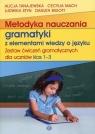 Metodyka nauczania gramatyki z elementami wiedzy o języku Zestaw ćwiczeń gramatycznych 1-3