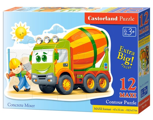 Puzzle maxi konturowe 12: Concrete Mixer (120086)