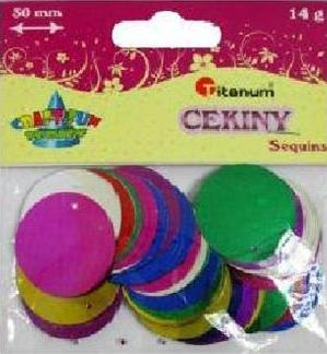 CEKINY KOLA MIX 30MM 14G BS007