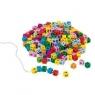 Kolorowe klocki z literkami do nawlekania (GOKI-58908)
