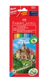 Kredki Faber-Castell Zamek 12 kolorów + temperówka (FC120112)