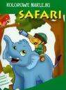 Kolorowe naklejki. Safari