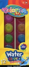 Farba akwarelowa Colorino Kids duża pastylka 12 kolorów