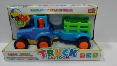 Traktorek z przyczepką .