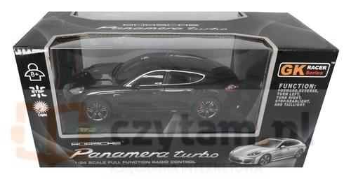 Porsche Panamera Turbo zdalnie sterowane skala 1:24 czarne