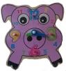 Układanka drewniana Zegar świnka