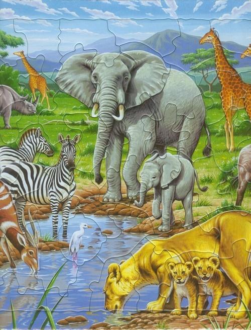 Afrykańska Sawanna Puzzle