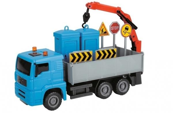 Pojazdy Heavy City Truck, 22 cm, niebieski