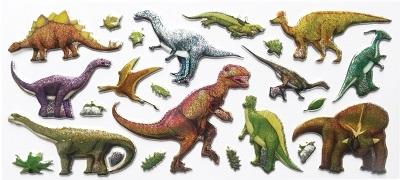 Zestaw naklejek - Dinozaury STnux (3092)