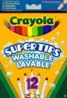 Flamastry Crayola spieralne pastelowe Supertips 12 sztuk (7509)