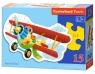 Funny Plane - puzzle konturowe 15 elementów (015092) (B-015092)