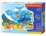 Puzzle maxi konturowe:Underwater Friends 12 elementów (120093)