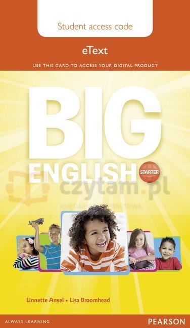 Big English Starter Pupil eText AccessCodeCard
