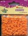 Cekiny 7mm 10g pomarańczowe