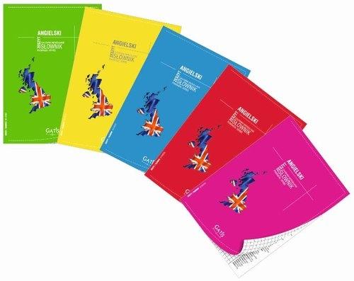 Zeszyt A5 Język angielski w kratkę 60 kartek 10 sztuk mix