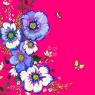 Karnet Swarovski kwadrat Kwiaty różowy