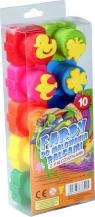 Farby do malowania palcami z pieczatkami 10 kolorów (201173)