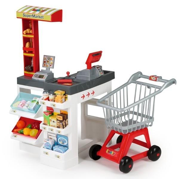 Supermarket z wózkiem i akcesoriami