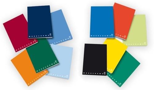 Zeszyt A5 Pigna Monocromo 42 kartki w linie mix kolorów