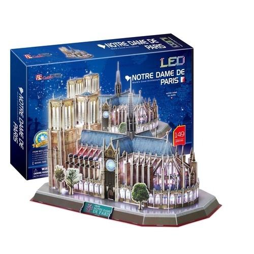 Puzzle 3D: LED - Katedra Notre Dame (306-20509) (Uszkodzone opakowanie)