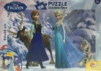 Puzzle dwustronne Kraina Lodu Friends 108 elementów