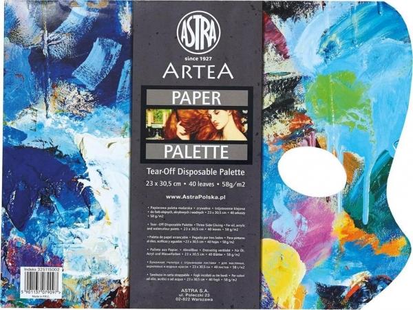 Paletka papierowa 25x30,5cm 58g 40ark. ASTRA