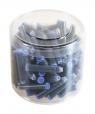 Naboje do pióra niebieskie pakowane po 100 sztuk 080023