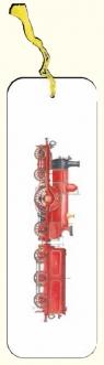 Zakładka do książki parowóz czerwony G07 41A 209