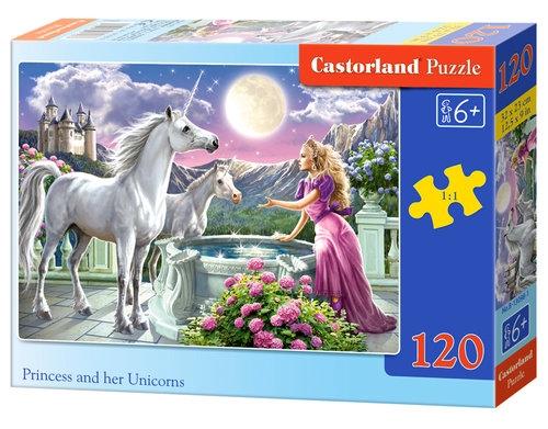 Puzzle 120: Princess and her Unicorns (13098)