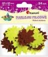 Naklejki filcowe: liście, miź kolorów, wym.45x45mm(DF009G)