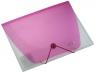 Teczka A4 z gumką przezroczysta różowa