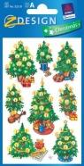 Naklejki błyszczące Z Design Christmas Choinki
