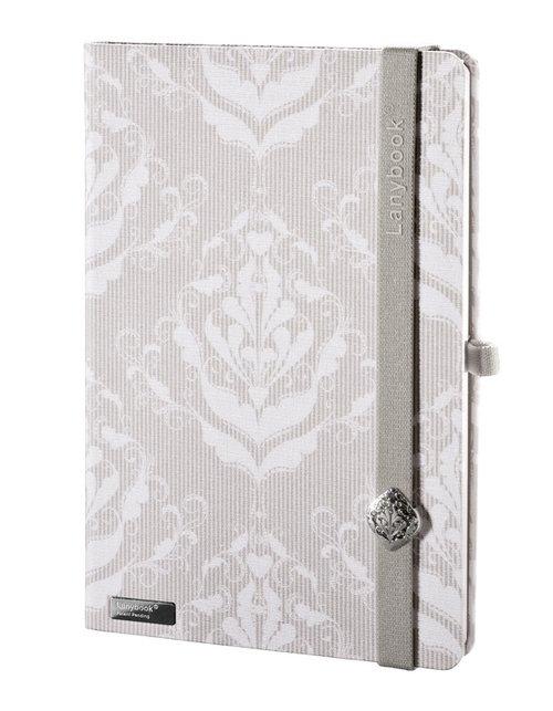 Notes A6 Lanybook Modern Baroque w kratkę biały