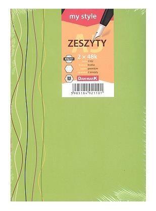 Zeszyty 2x A5/48K kratka 1102 My style