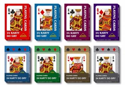 Karty do gry. Talia 24 kart praca zbiorowa