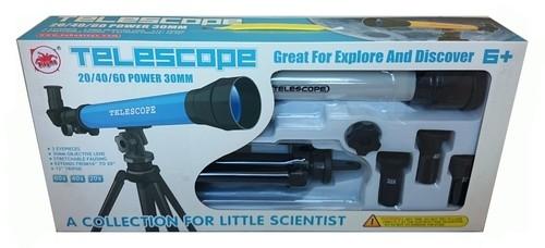 Teleskop na statywie szary