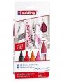 Zestaw Edding 4500 marker do tkanin Ciepłe kolory - 5 szt. (4500/5S/999 ED)