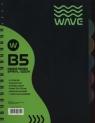 Kołozeszyt B5 Wave w kratkę 120 kartek zielony