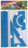 Zestaw geometryczny 3 elementy 20 cm Bambino flexi niebieski