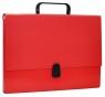 Teczka-pudełko Office Products PP A4 5cm, z rączką i zamkiem, czerwona