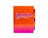 Kołozeszyt Pukka Pad Project Book Fusion a5 200k kratka pomarańczowy