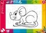 Puzzle do kolorowania 15 Mysz