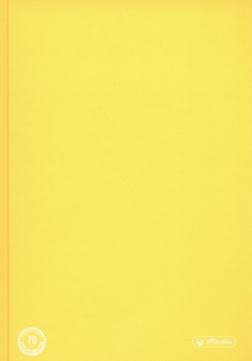Brulion A5 Color Blocking w kratkę 96 kartek żółty