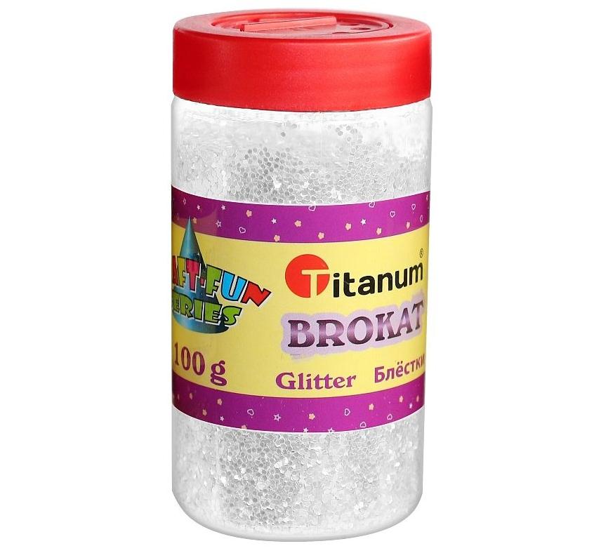 Brokat sypki Titanum Craft-Fun Series 113 g - biały (360415)