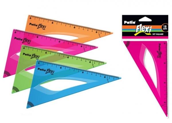 Ekierka Flexi 18 cm różowa