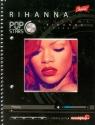 Zeszyt na spirali A5 Pop Stars w kratkę 80 kartek Rihanna