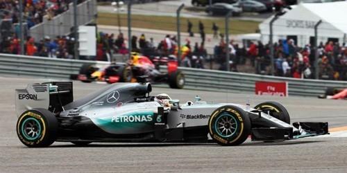 Mercedes AMG Petronas F1 Team W06 Hybrid #44 Lewis Hamilton Winner USA GP 2015