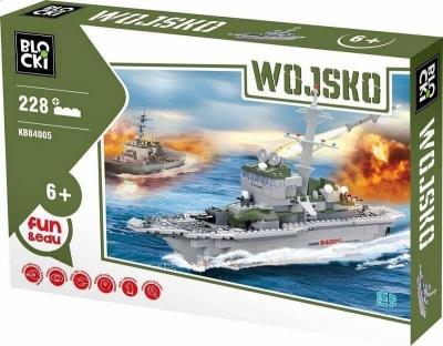 Klocki Blocki: Wojsko. Okręt wojenny 228 elementów (KB84005)