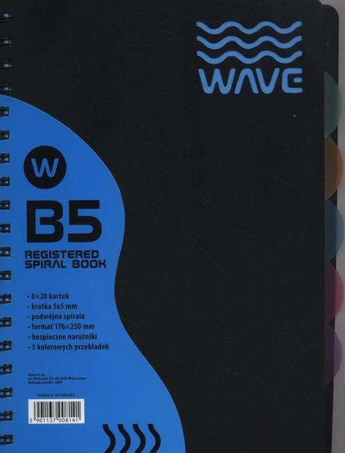 Kołozeszyt B5 Wave w kratkę 120 kartek niebieski